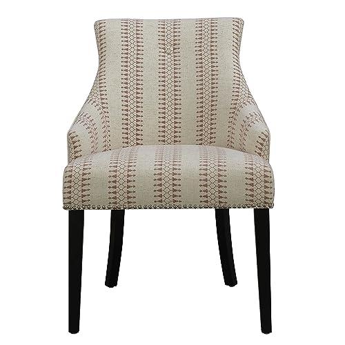 Pulaski Modern Accent Chair, Medium, Cream Patterned