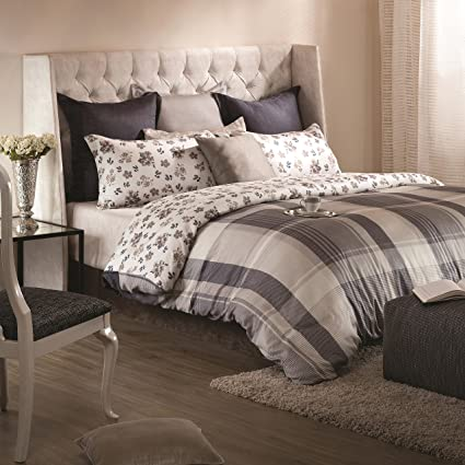 bb3faf9c31c09 A1 Home Collections A1HC Madras Reversible Print 100% Organic Cotton Duvet  Cover and Sham Set