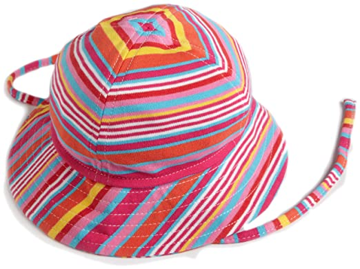 380aa22dc4a94 Amazon.com  Zutano Fuchsia Multi Stripe Sun Hat  Clothing