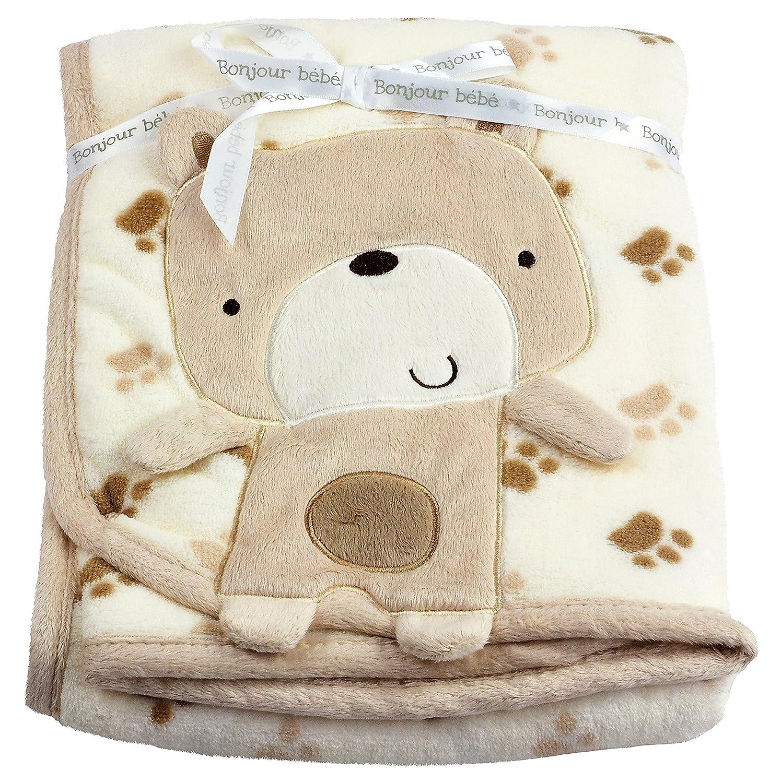 Bebé Ropa de manta carro aprox. 75x 100cm varios 3d Diseños beige marrón Talla:talla única Rock a Bye Baby