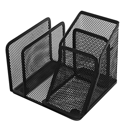 Amazon black metal mesh office supplies organizer storage black metal mesh office supplies organizer storage caddy rack w business card holder mail colourmoves