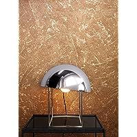 NEWROOM Behang bruin vliesbehang licht glanzend - Betontapete Uni Gold Beton pleisterwerk Moderne industriële betonlook…