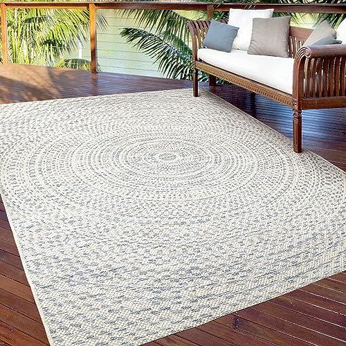 Orian Rugs Cerulean Rug, 7 7 x 10 10 , Wool Raw Blue