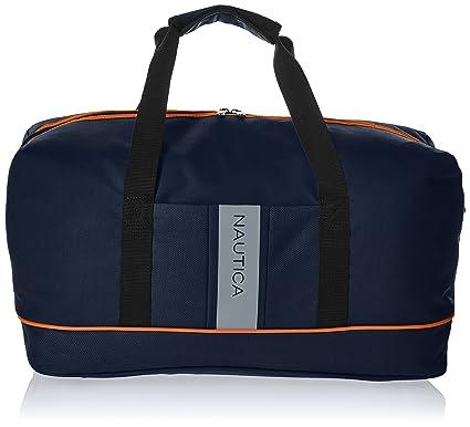 593eafa6b Amazon.com | Nautica Travel Carry Duffle Bag, Navy/Orange | Suitcases