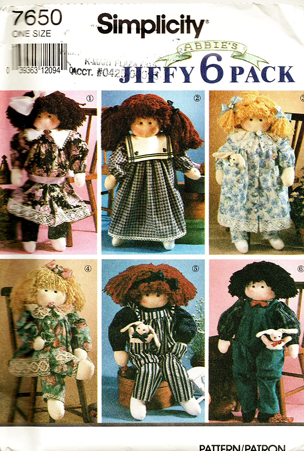 Rag Doll & Clothes Pattern