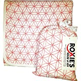 Roxie's Cotton Muslin Baby Everything Blanket, 47 x 47, For Girls and Boys, Red