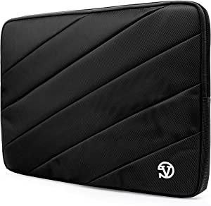 Onyx Black Shock Absorbing Protective Laptop Sleeve 14 inch for Dell Inspiron 14 5482 7460 7472 5480 ChromeBook 14 7486, Latitude 14 7400 5400 5401 3400 ChromeBook Enterprise 5400, Vostro 14 5481