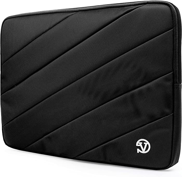 Protective Black Shock Absorbing Laptop Sleeve for Dell Inspiron, Latitude, XPS, Precision, G3 G5 G7 15, Vostro, Alienware m15, m15 R2 14 to 15.6 inch