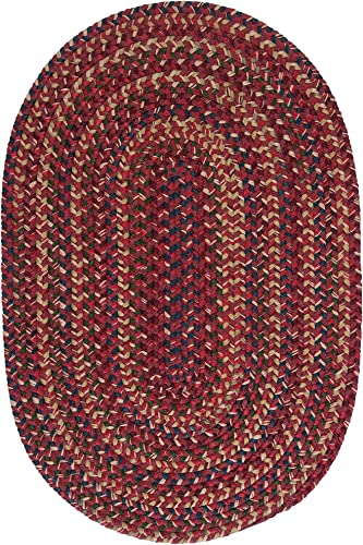 Midnight Round Rug, 6-Feet, Burnt Brick