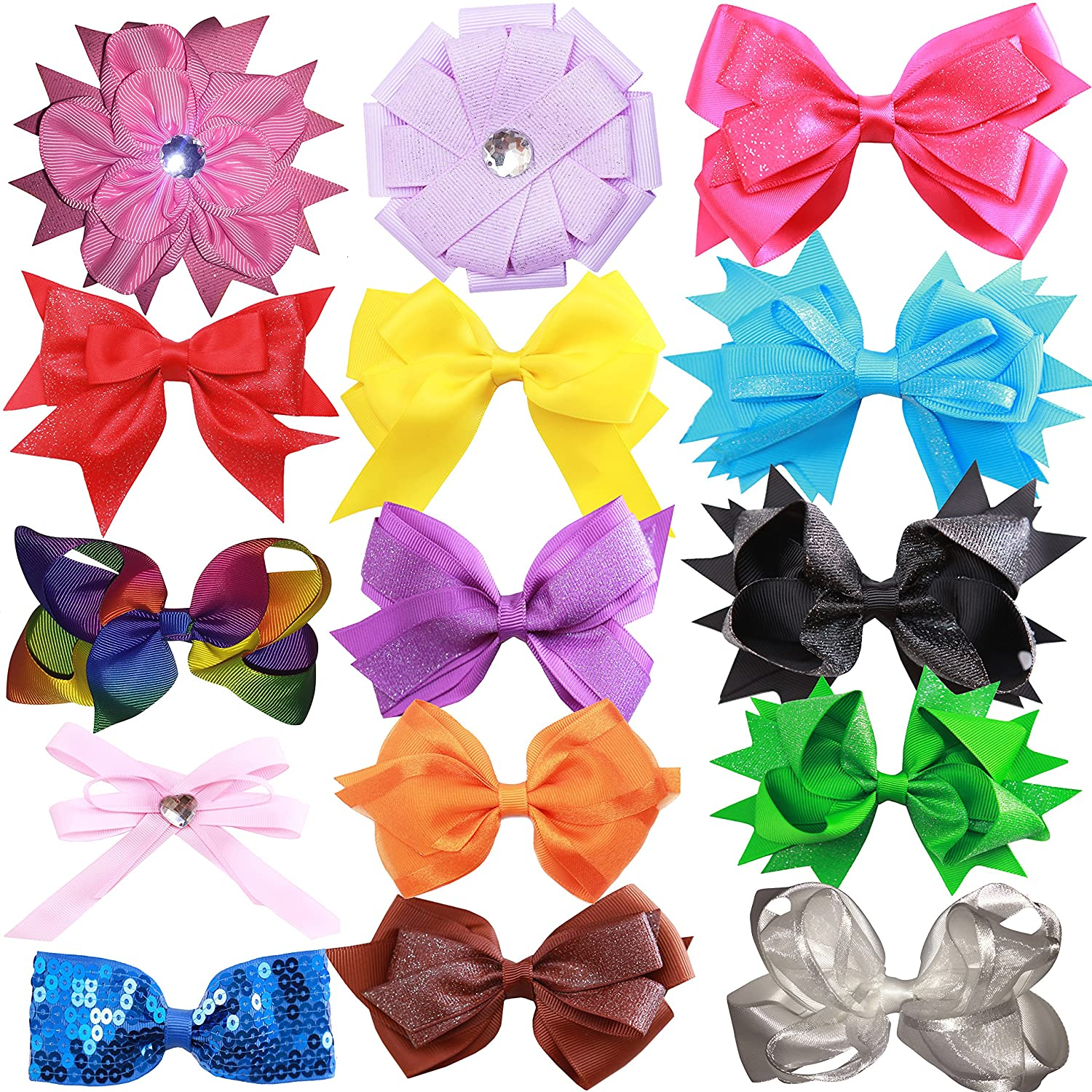 Hair Bows Clips for Girls - Kids Teens Women Accessories Educational Toy or Gift Crafts