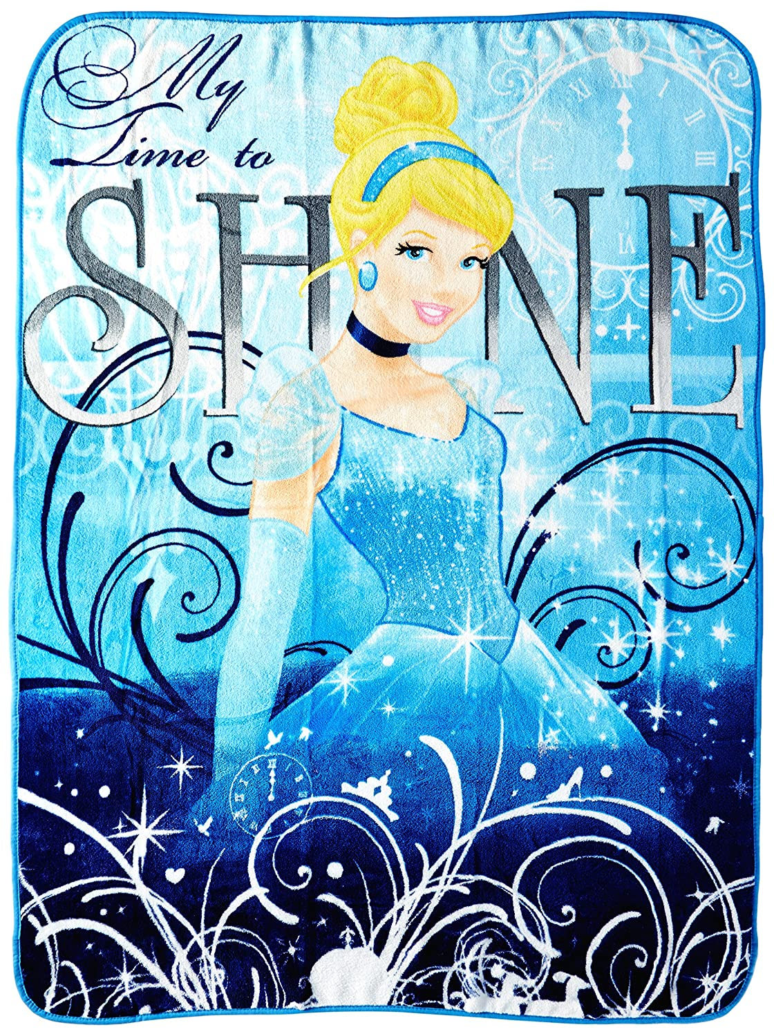 Disney's Cinderella,My Time to Shine Micro Raschel Throw Blanket, 46 x 60, Multi Color Disney's Cinderella 46 x 60 1CIN059004002RET
