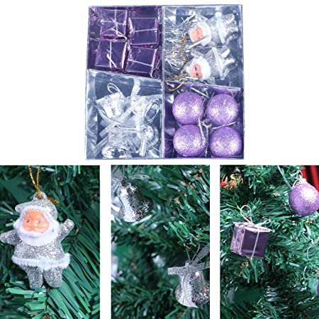 malayas 12pcs kit christmas tree hanging ornament decoration bow bowknot butterfly tree ribbon bow bauble