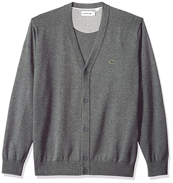 3aaf8ed26be36d Lacoste Men s Long Sleeve Jersey Cardigan Sweater