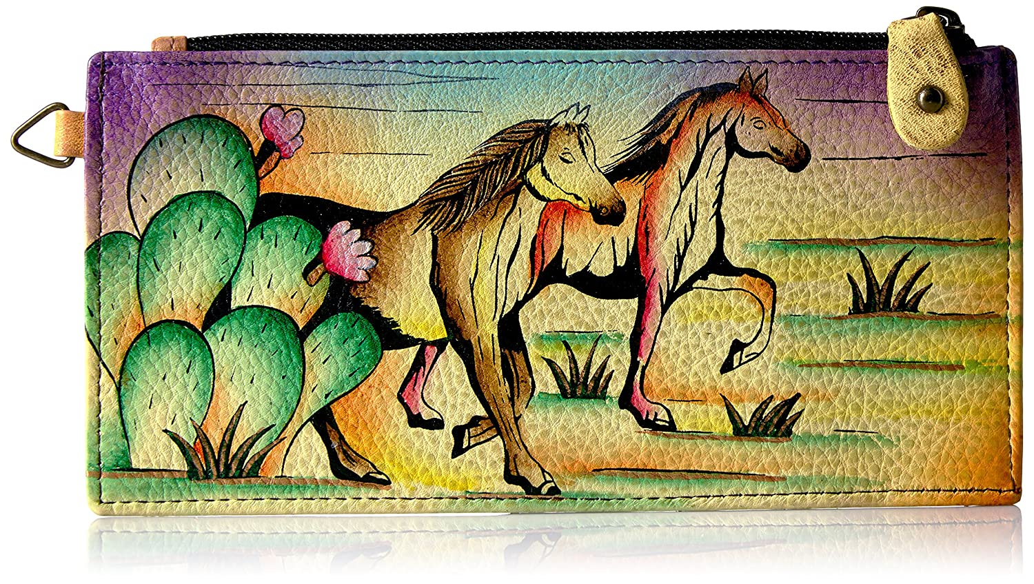 Anna By Anuschka, Handpainted Leather Organizer wallet (1713 AMT) 1713-AMT
