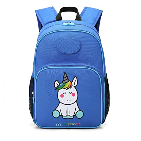 mommore Unicorn School Bags Kids Backpack Toddler Bag for 3-7 Kid with DIY  Name Tag Blue  Amazon.co.uk  Luggage 59a60bfeb708a
