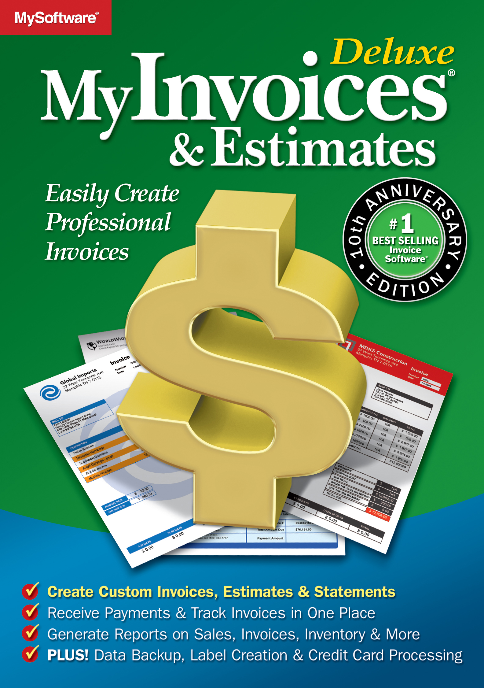 MyInvoices & Estimates Deluxe 10 [Download] by Avanquest