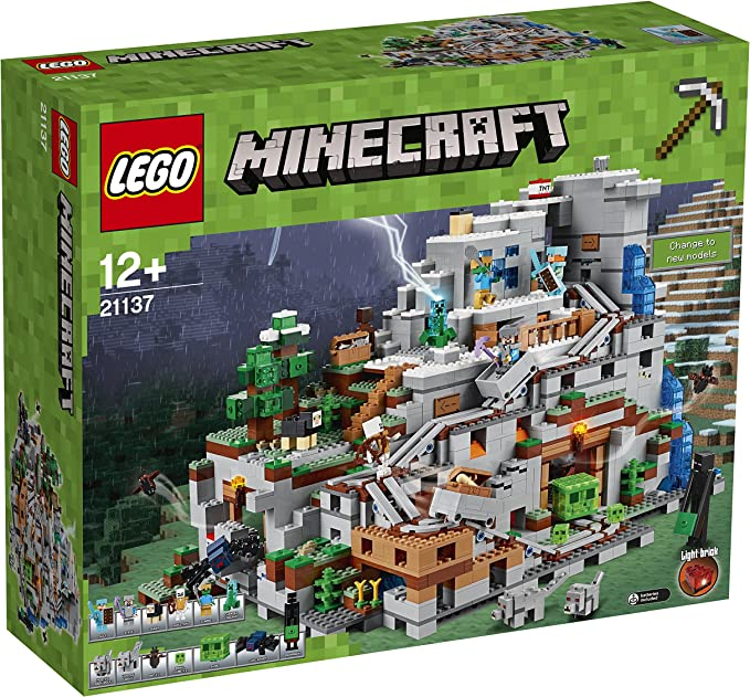 LEGO Minecraft 21137 la Montaña Cueva construcción Juguete: Amazon.es: Juguetes y juegos