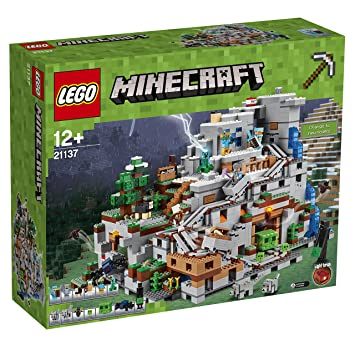 LEGO Minecraft 21137 The Mountain Cave Construction Toy: Amazon.co ...