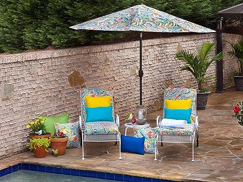 Pillow Perfect Outdoor Indoor Veranda Cobalt Lumbar Pillows, 11.5 x 18.5 , Blue, 2 Pack