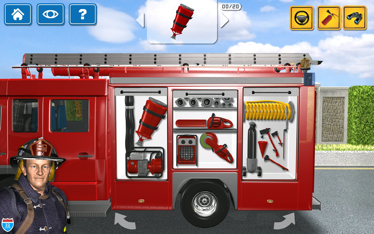 Kids Vehicles 1 Interactive Fire Truck Animated 3d