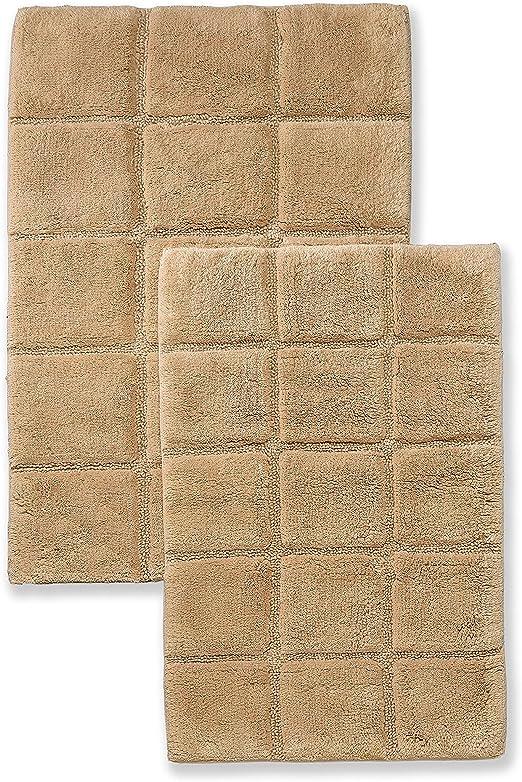Superior - Juego de alfombras de baño Antideslizantes, de algodón ...