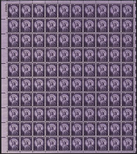 Amazon Statue Of Liberty Stamps Complete Sheet 100