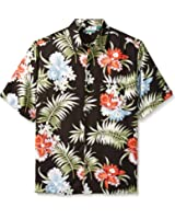 aaab9df17e Cubavera Men s Big and Tall Pocketed All Over Floral Printed Short Sleeve  Woven Shirt
