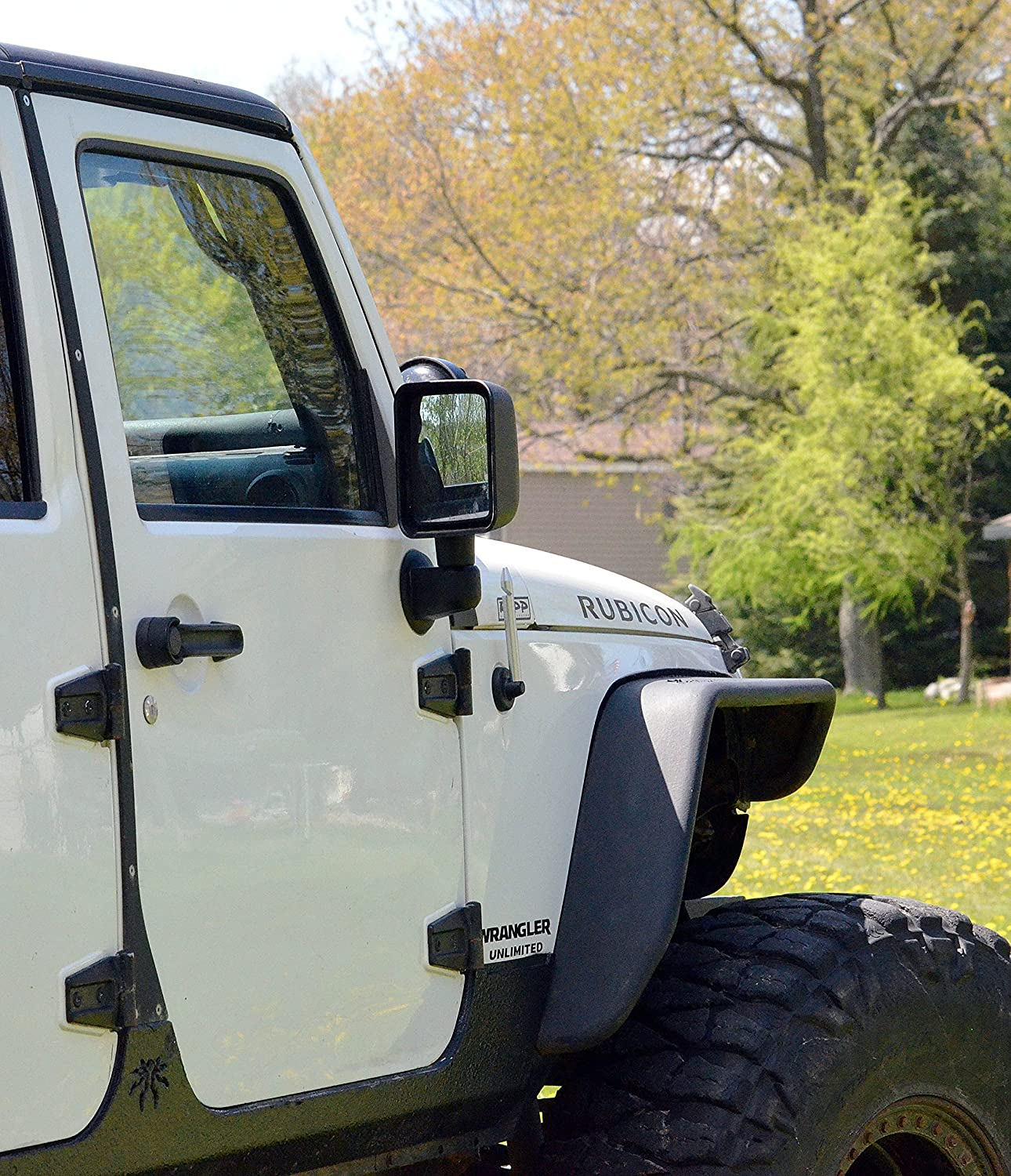 2003-2009 AntennaMastsRus Made in USA 4 Black Aluminum Fender is Compatible with Antenna Hummer H2