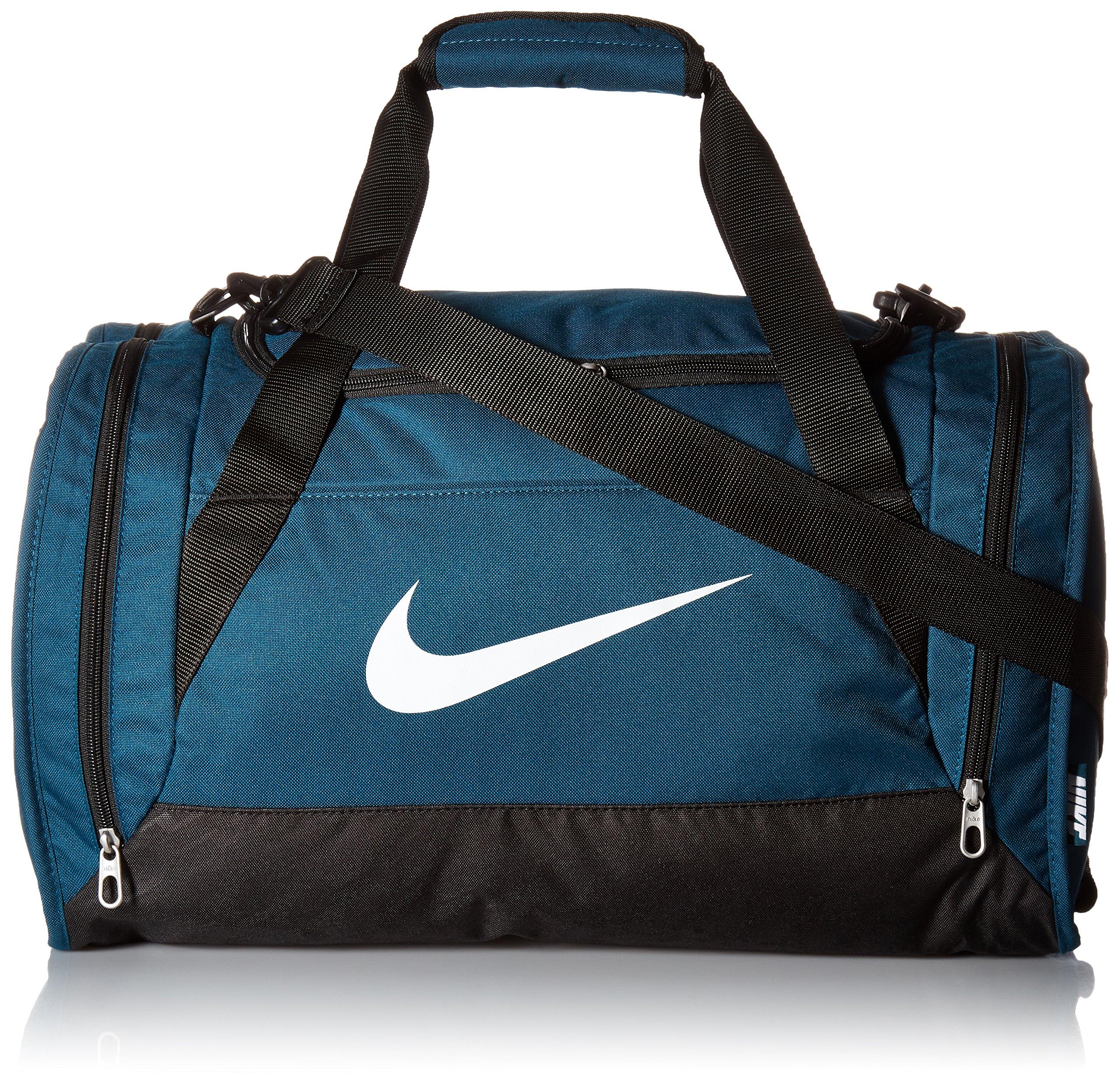 Nike Brasilia 6 Medium Sports Duffel Gym Bag Midnight Turquoise