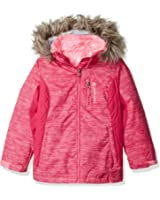 Free Country Girls' Heavy Weight Printed 3-In-1 System Jacket With Removable Faux Fur Trimmed Hood