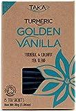 Taka Turmeric GOLDEN VANILLA - Turmeric Tea with Rooibos, Coconut, Vanilla Tea Blend | 15 Tea Sachets | Certified Organic by Soil Association