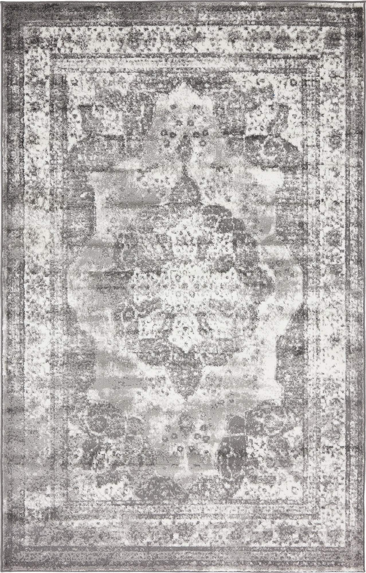Unique Loom 3134092 Area Rug, 5' x 8' Rectangle, Gray