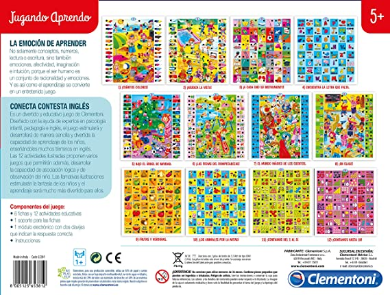 Clementoni- Conecta-Contesta La casa de Mickey Mouse: Amazon.es: Juguetes y juegos