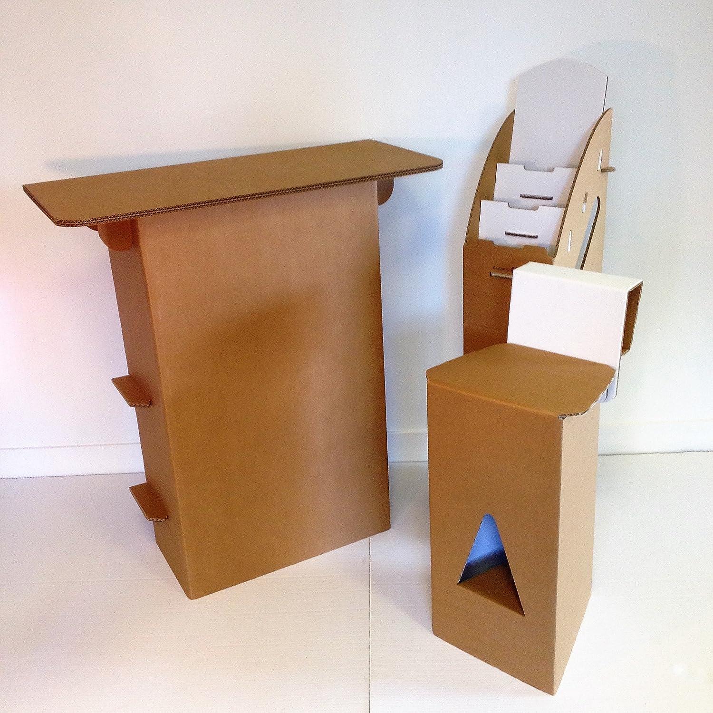 Pack Stand cartón kraft bandeja Rectangular: Amazon.es: Oficina y papelería