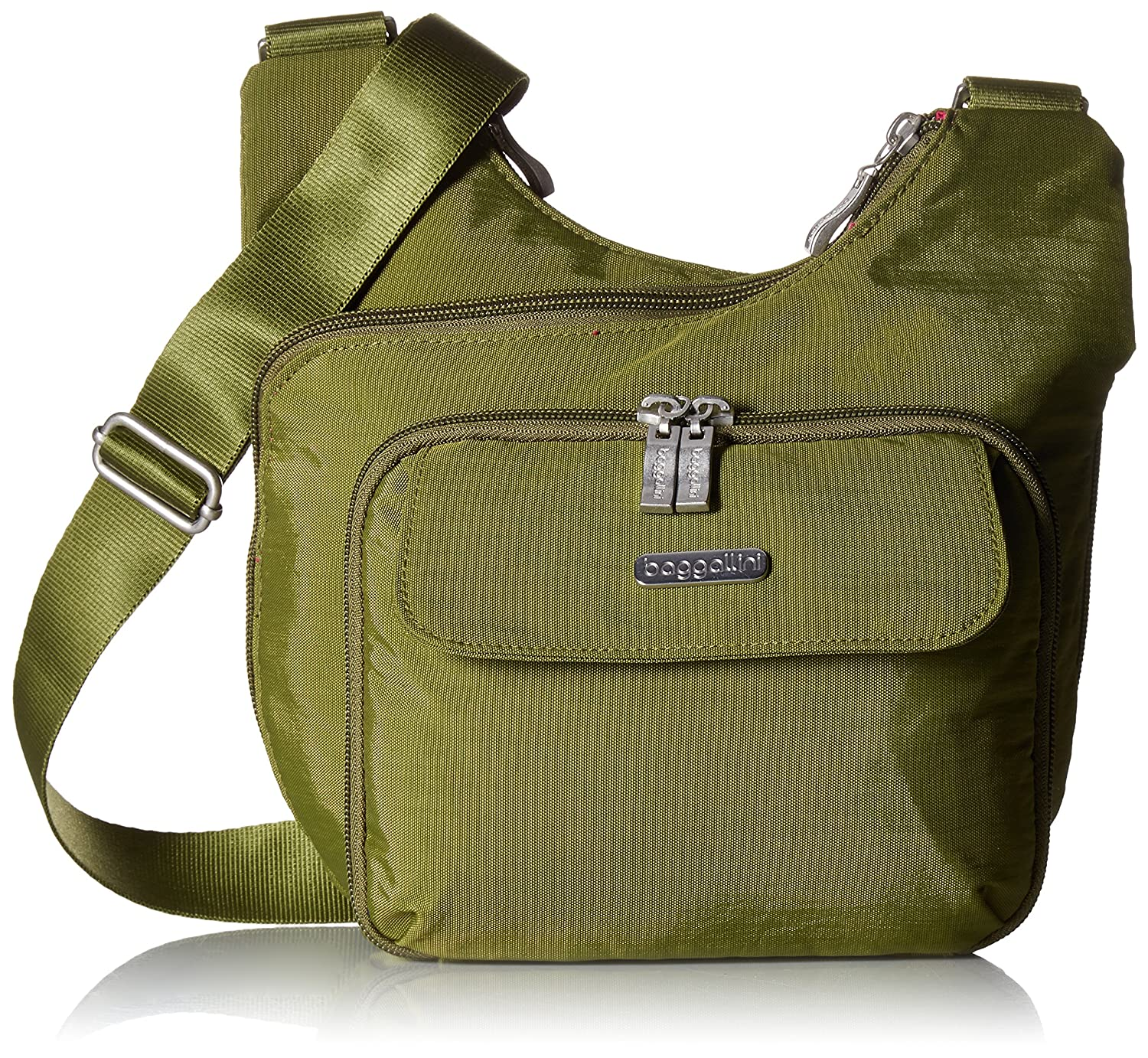 Baggallini Criss Cross Bagg – Lightweight Travel Purse with Zippered Interior and Exterior Pockets