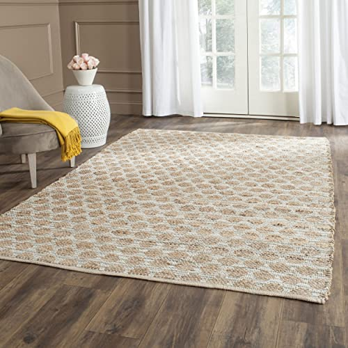 Safavieh Cape Cod Collection CAP820D Hand Woven Grey and Natural Jute and Cotton Area Rug 5 x 8