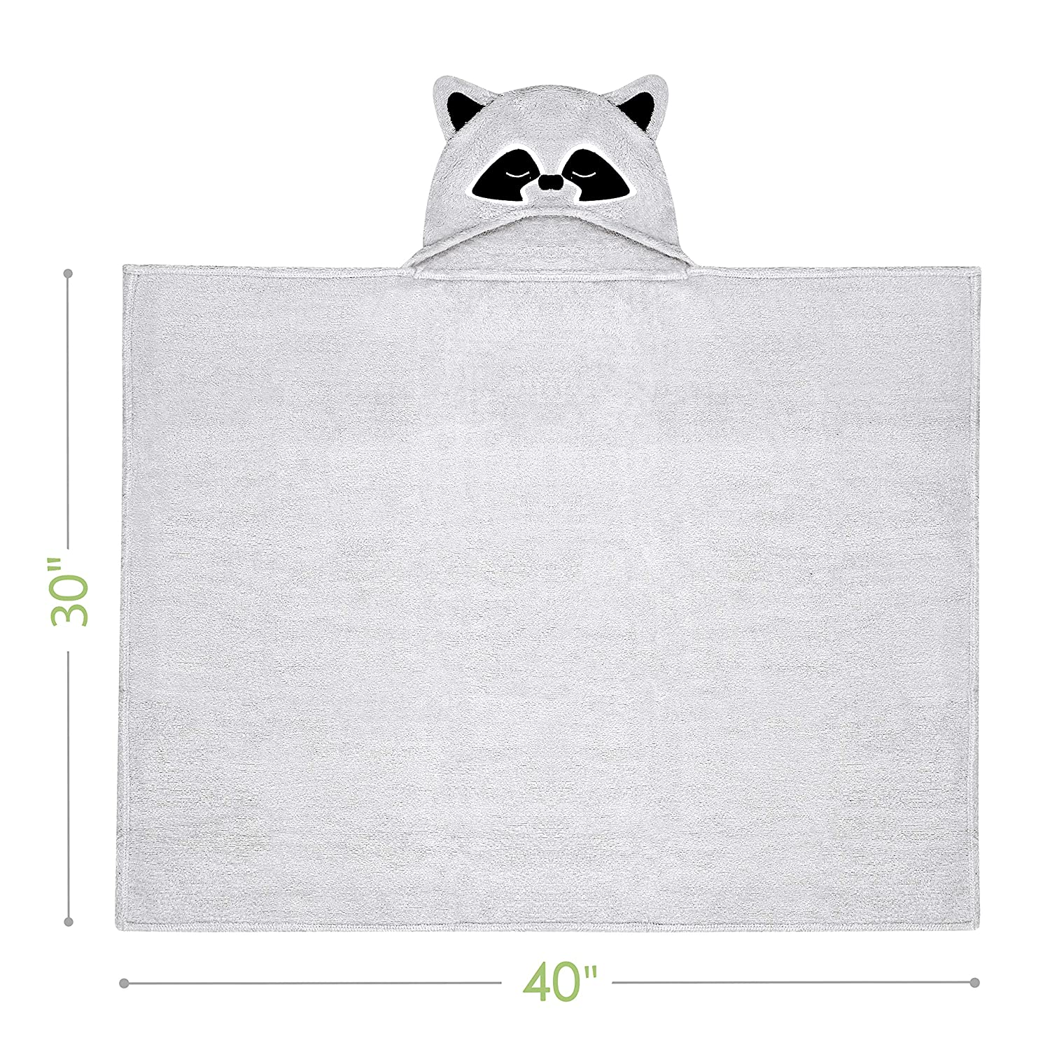 Rayon from Bamboo Baby Towel Extra Large and Super Absorbent Hooded Bath Towel for Babies,Toddlers Ultra Soft Baby Hooded Towel Perfect Baby Shower Gift for Boys and Girls by Natemia