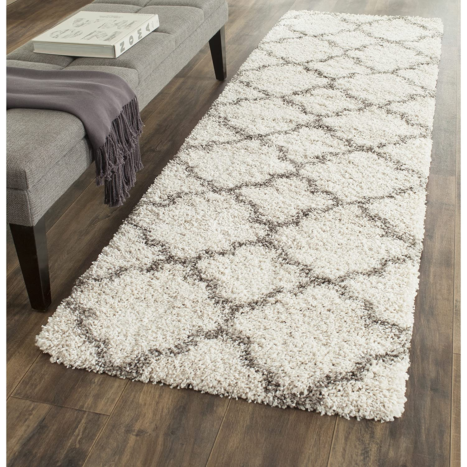 grey x kitchen com safavieh ivory dp shag dining amazon runner rug moroccan and quatrefoil geometric collection hudson