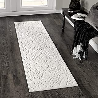 """product image for Orian Rugs Boucle' Cottage Floral Natural Runner Rug, 1'11"""" x 7'6"""", Ivory"""