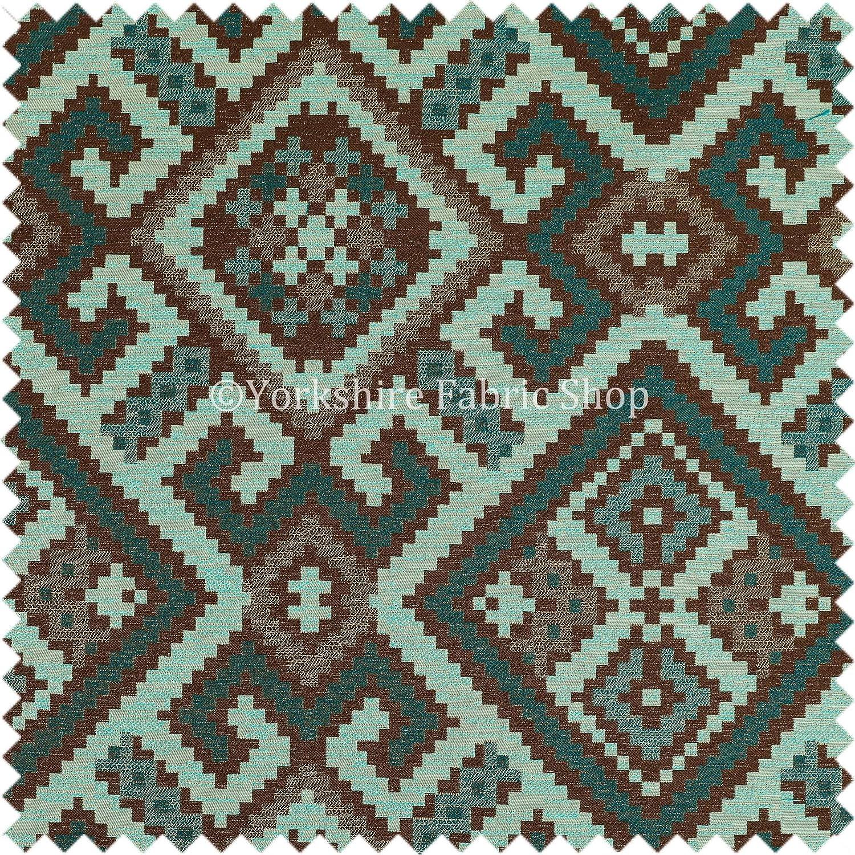 New Modern Tetris Geometric Pattern Upholstery Curtain Furnishing Green Fabric