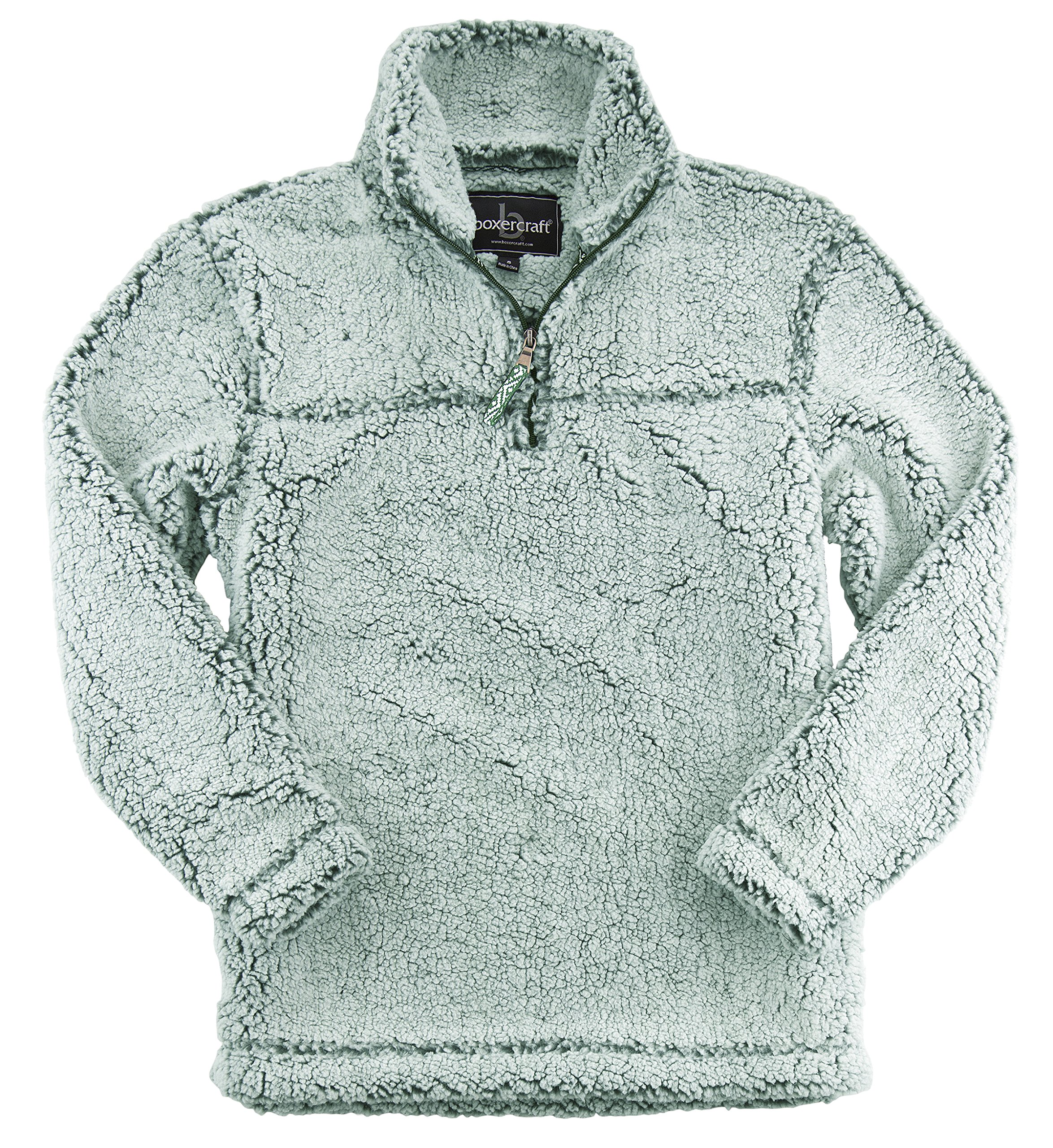 boxercraft Adult Super Soft 1/4 Zip Sherpa Pullover, Frosty Hunter, 3XL