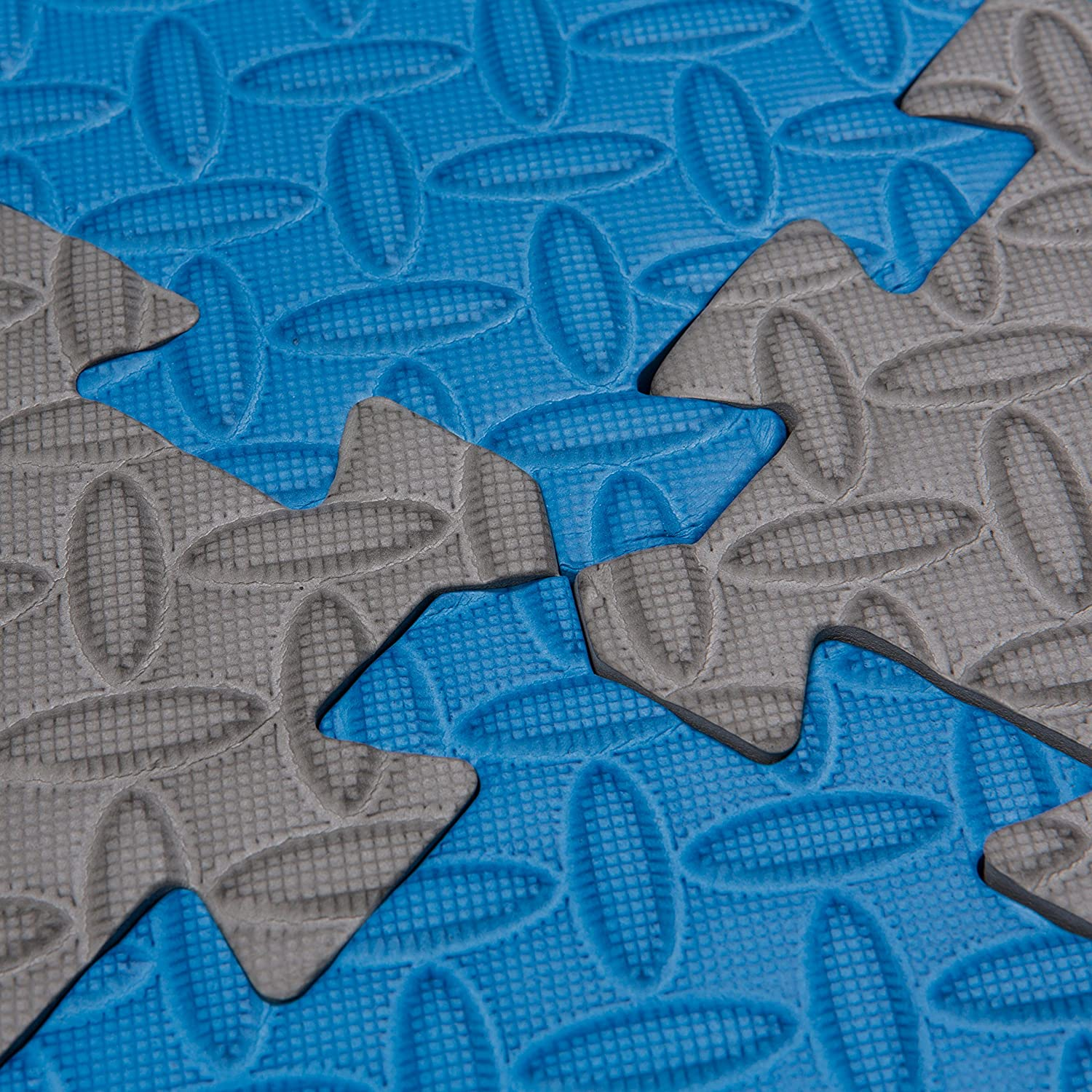 Tadpoles Leaf Pattern Playmat Set, Blue Grey