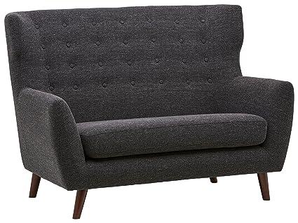 Rivet Hawthorne Mid-Century Tufted Modern Loveseat Settee Sofa, 57\