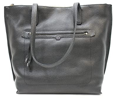3d336f28f5c Etienne Aigner Large Pebbled Leather Tote (Black)  Handbags  Amazon.com