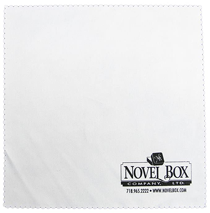 """Novel Box 100-Count Self-Seal Suffocation Warning Clear Poly Bags 1.5 mil 14""""X20"""" + NB Cleaning Cloth"""