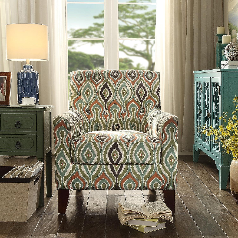 Rosevera C13D Home Fina Fabric Tufted Armchair, Multi-Color