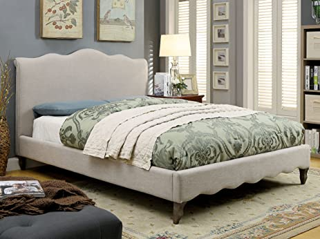 Amazon.com: HOMES: Inside + Out IDF-7722F Cora Upholstered Bed ...
