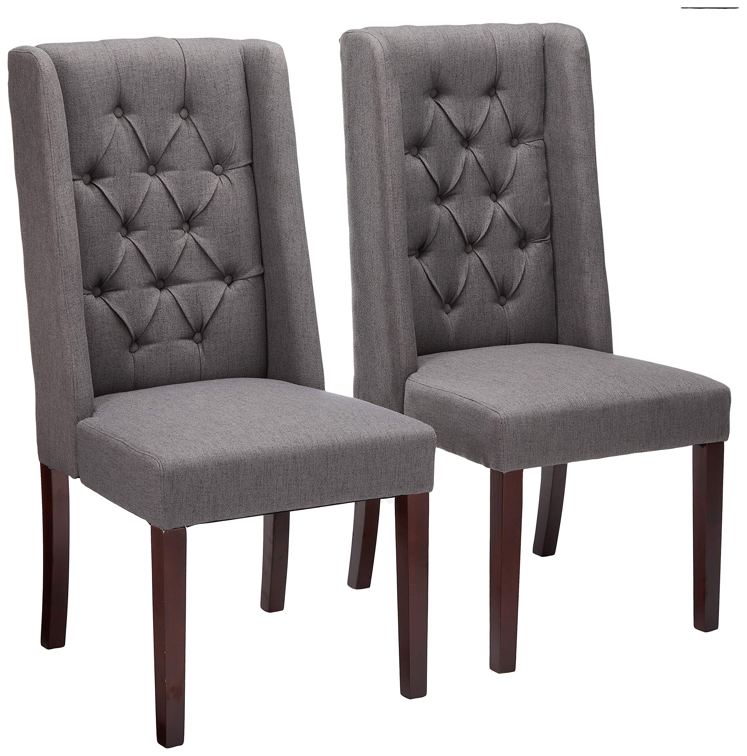 Christopher Knight Home 302439 Billings Tufted Dark Grey Fabric Dining Chairs (Set of 2) by Christopher Knight Home