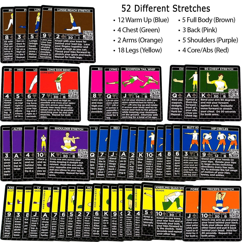 Tarjetas de ejercicios de flexibilidad por Stack 52: Amazon.es ...