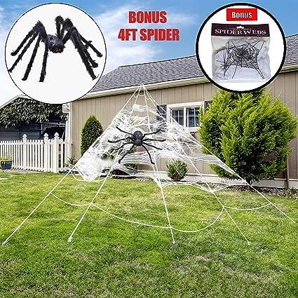 Amazon.com: Halloween Giant 23 Feet Triangular Mega Spider ...